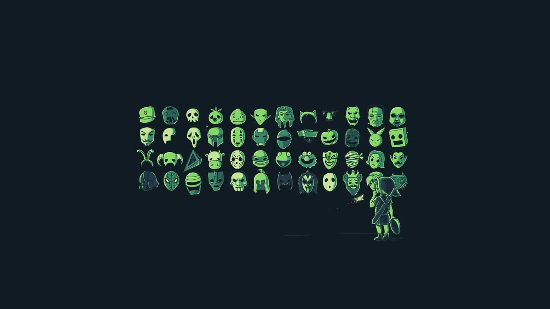 #The Legend of Zelda, #mask, #digital art, #Link, #video ...