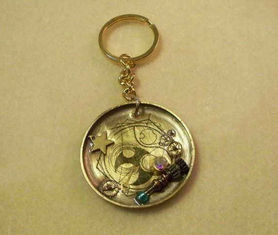 Doctor Who keychain (complete w/ Sonic Screwdriver and Gallifreyan symbol for time)