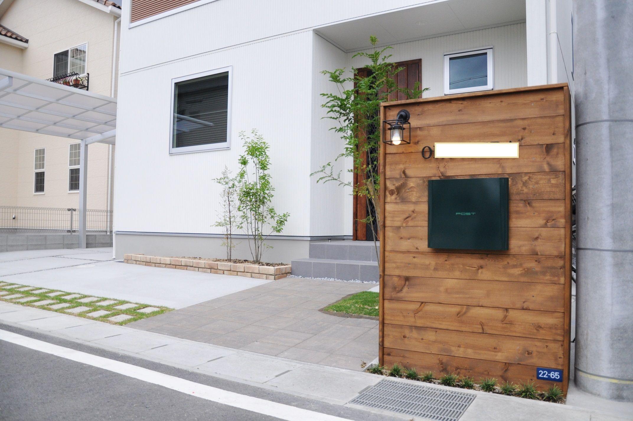 ポスト 木 Google 検索 玄関 エクステリア 住宅 外観 前庭