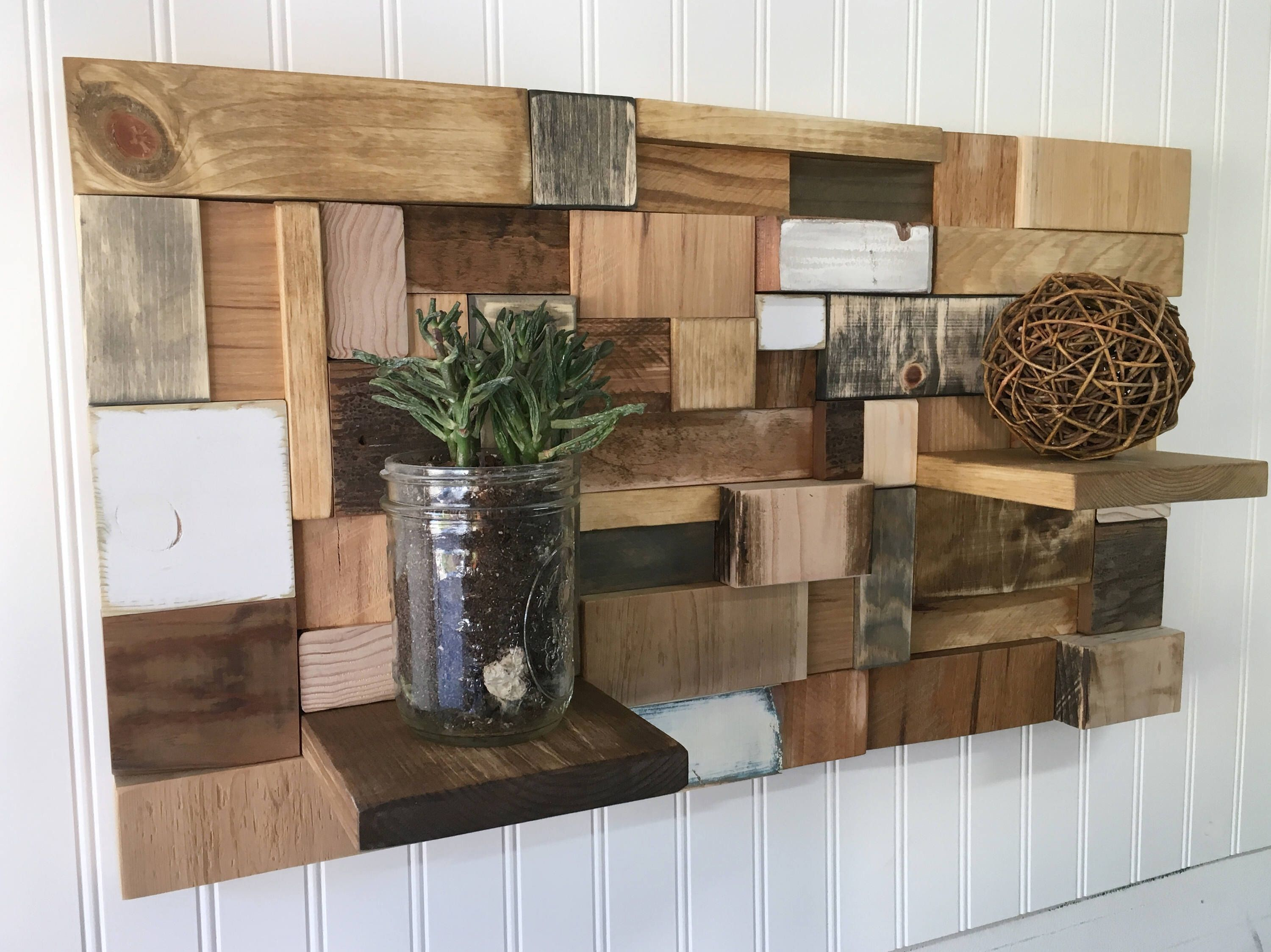 on wood and designs modern wall display shelves best walls rustic reclaimed decor decorations