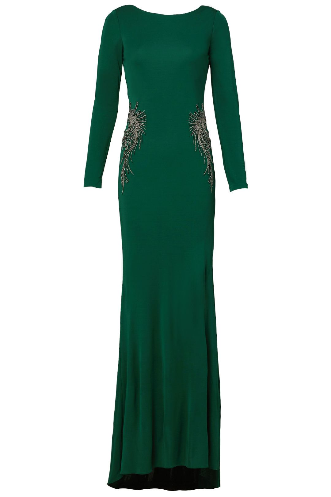 Kelly green gown green gown kelly green and badgley mischka