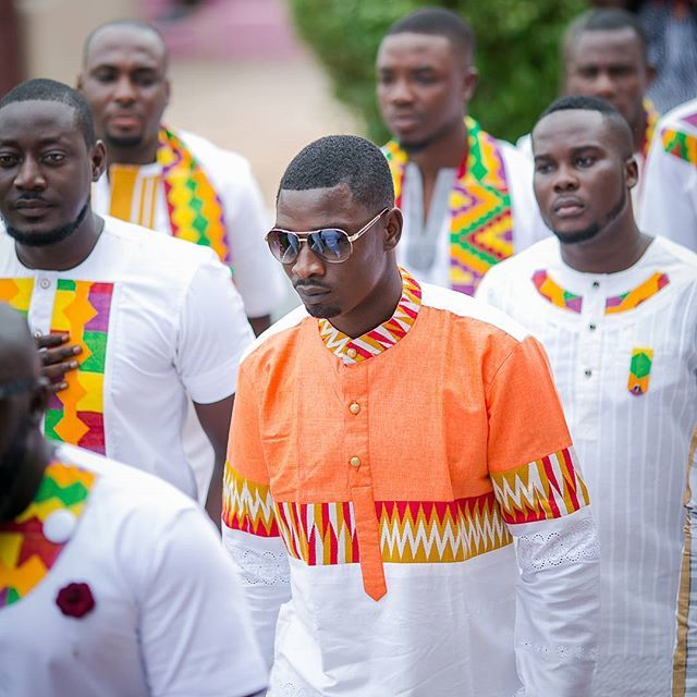 4c4574f777e8 Men Fashion  fromboystomen  tradtional  engagement  weddings  groom  men   culture  shades  kente  Tema  kumasi  Ghana  Regram via  boatografi gh