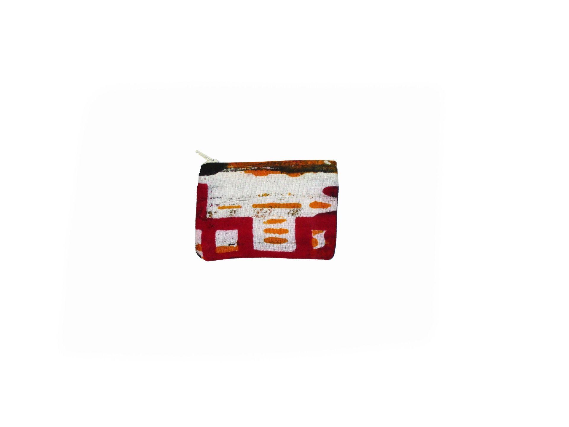 Porte-monnaie ou porte-cartes en pagne et jean (dark blue) : Porte-monnaie, portefeuilles par ecosap
