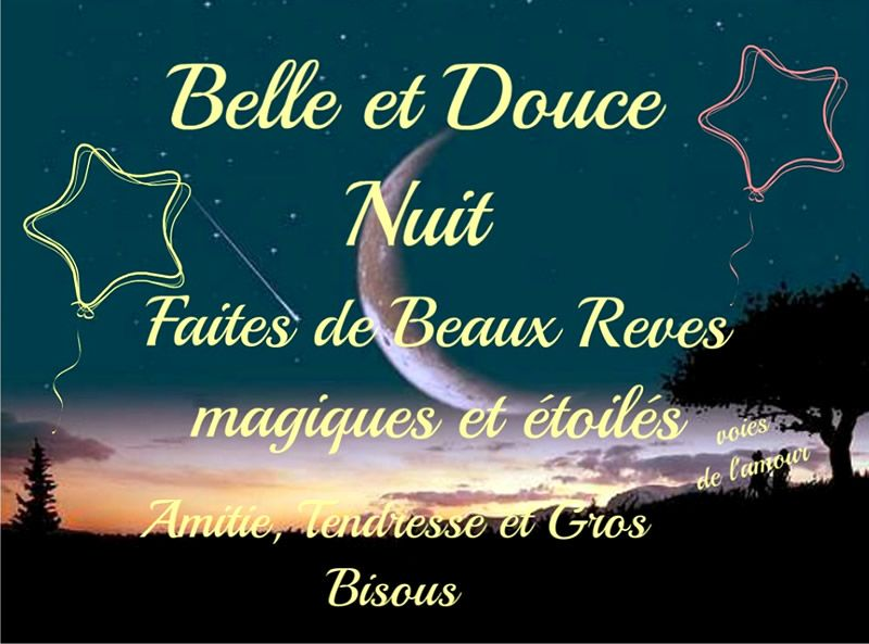 Belle Et Douce Nuit Faites De Beaux Rêves Magiques Et