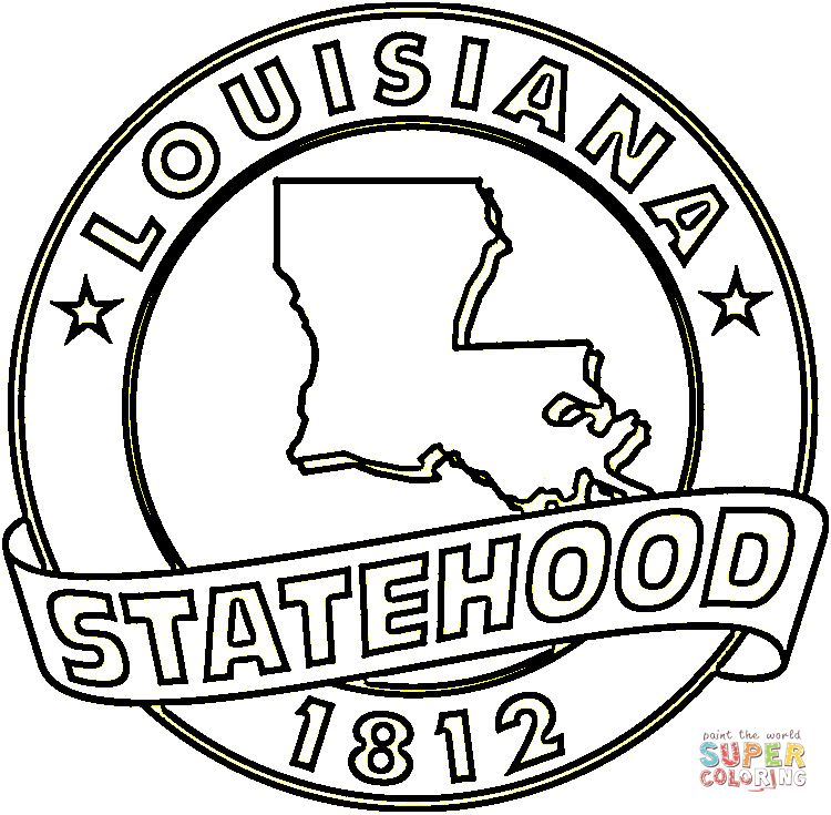 Http Mewarnai Us Images 650676 State Of Louisiana Coloring Page Jpg Flag Coloring Pages Coloring Pages Free Printable Coloring Pages