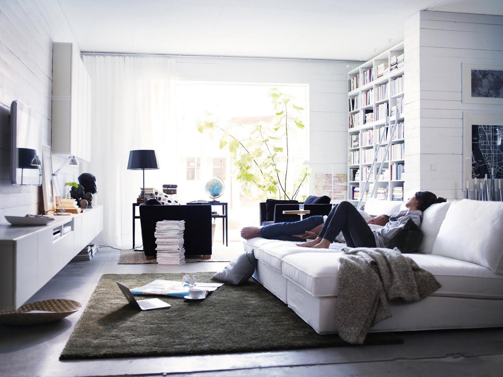 Kivik Milj Vit Soffa Tv Room Ikea Living Room Home Living Room