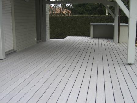 Terrasse bois composite gris clair Terrasse et piscine Pinterest - cout d une terrasse en bois
