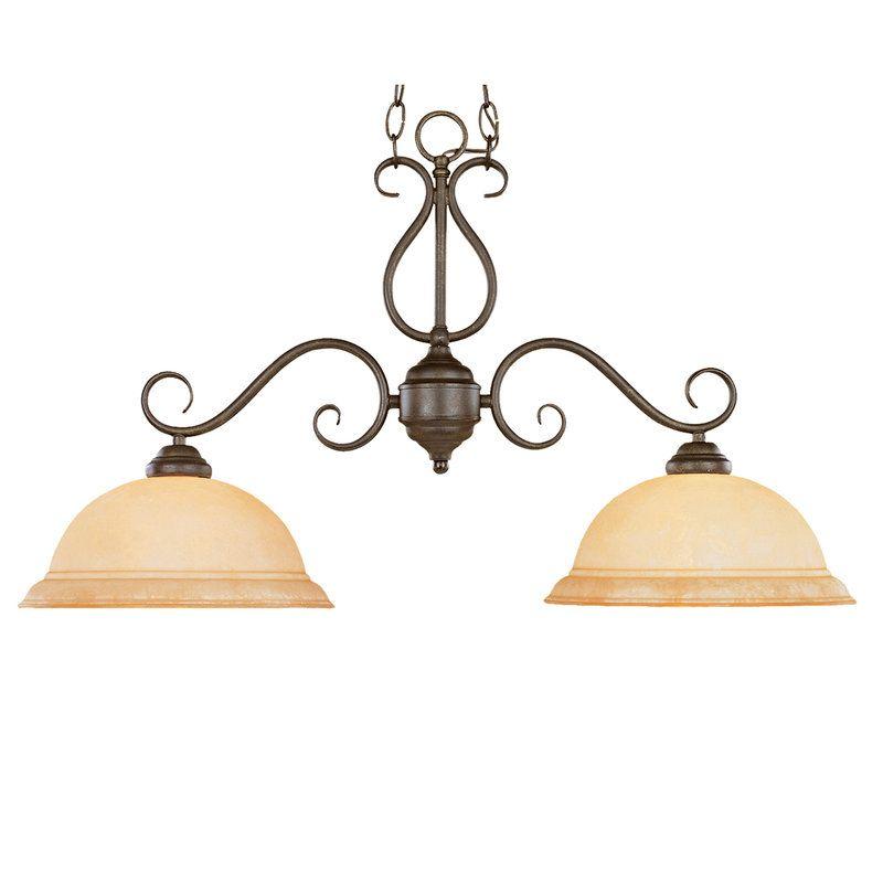 View the millennium lighting 972 manchester 2 light single tier linear chandelier at lightingdirect com