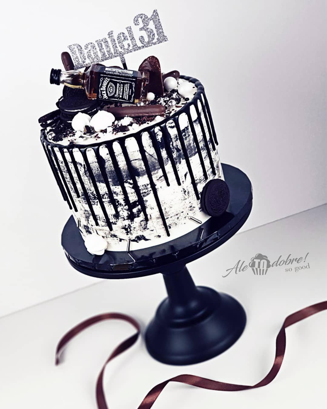 Czarny Drip Akademiatortu Pl Recipe Birthday Beer Cake Cake Birthday Cakes For Men