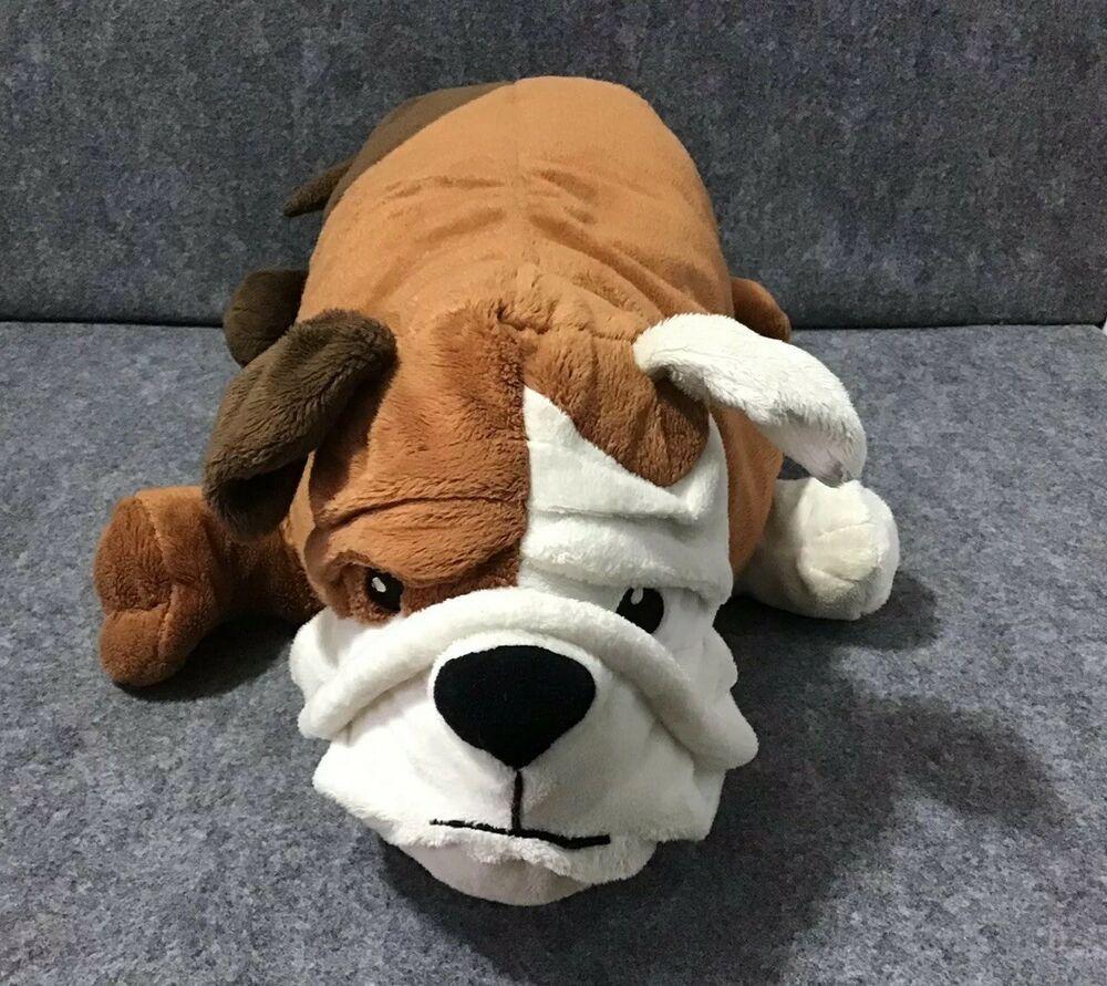 Ikea Gosig Bulldog Brown White Puppy Dog English Stuffed Animal