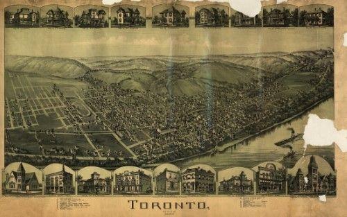 24x36 Kalamazoo MI 1908 Historic Panoramic Town Map