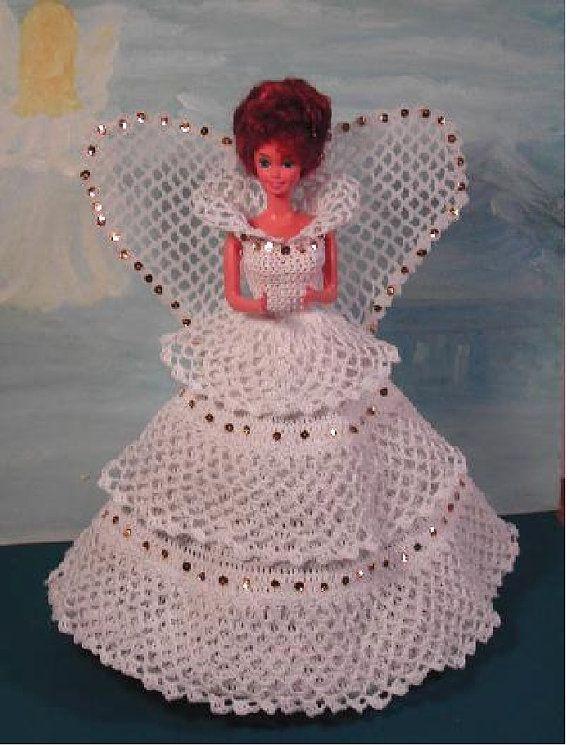 Crochet Fashion Doll Barbie Pattern- #193 ANGEL WITH a HEART ...
