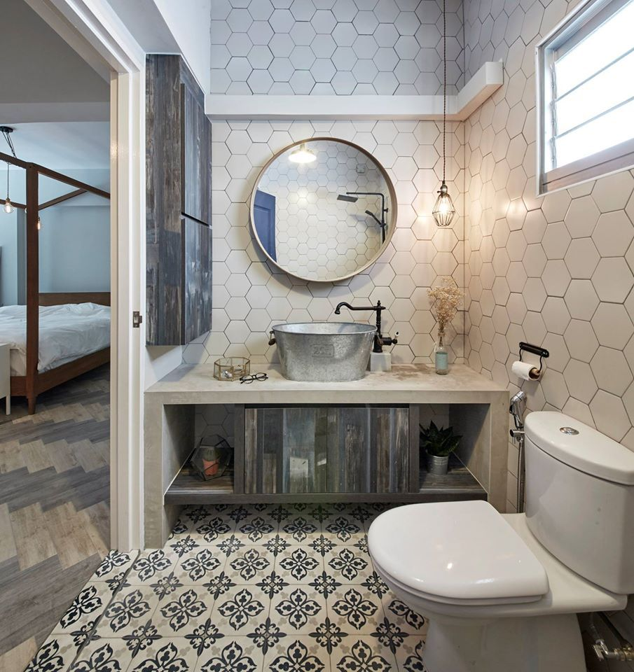 Acacia Breeze, Industrial HDB Interior Design, Bathroom