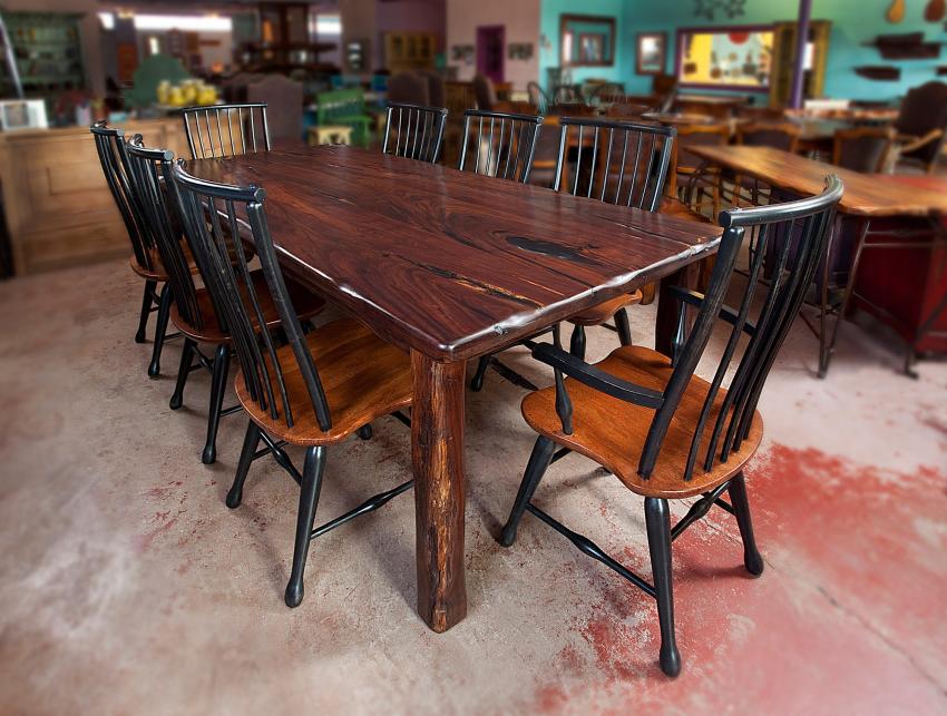 black walnut  furniture dining table rustic furniture