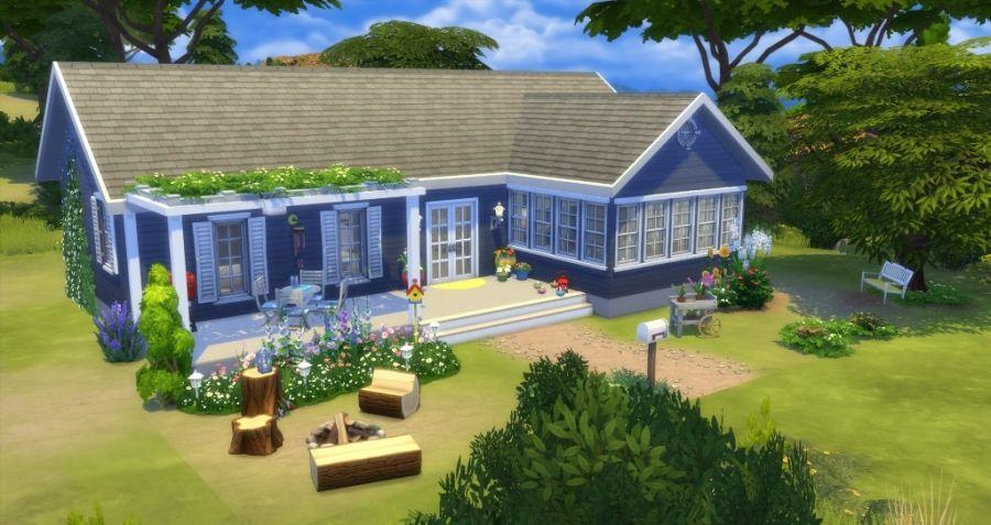Sims 4 Telechargement Download Maison Sans Contenu Personnalise No Cc House Sims Sims 4 Maison Maison Sims