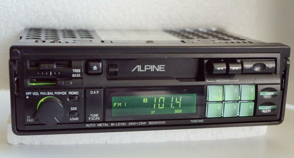 Alpine 7290ms old school amfm cassette tape pullout car