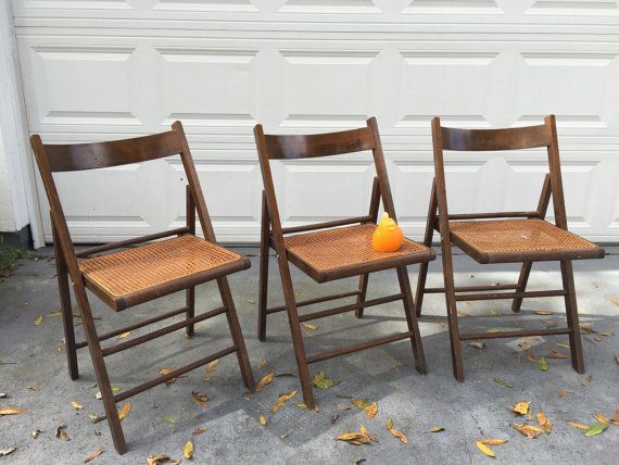 Cane Folding Chairs Made In Italy Wood And Cane Chairs Cane Etsy Folding Chair Chair Wood Folding Chair