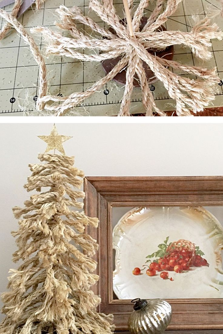 How to make a shaggy rope tree.