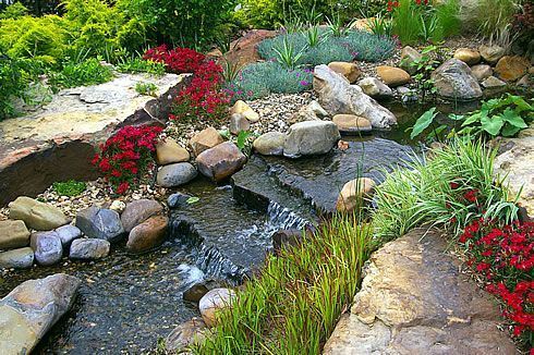 The lower pool can be small or quite sizable depending on ...