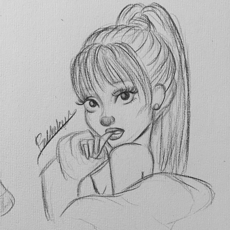 "Frederique Rotteveel on Instagram: ""some sketches i just made 💫( all ariana of course 😂🙄💁🏽 )  Had to get my head off of things and the best way to do that is sketching ☺️☺️…"""