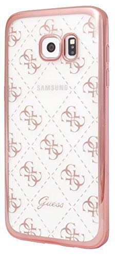a4cd7e4c45f nice Guess 4 G Collection funda para Samsung Galaxy S7 Edge TPU  transparente/Rosa/Oro