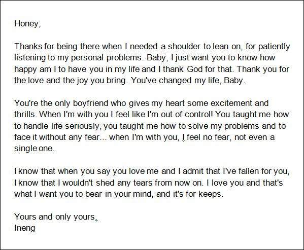 Sample Love Letters To Boyfriend - 16+ Free Documents In Word, Pdf