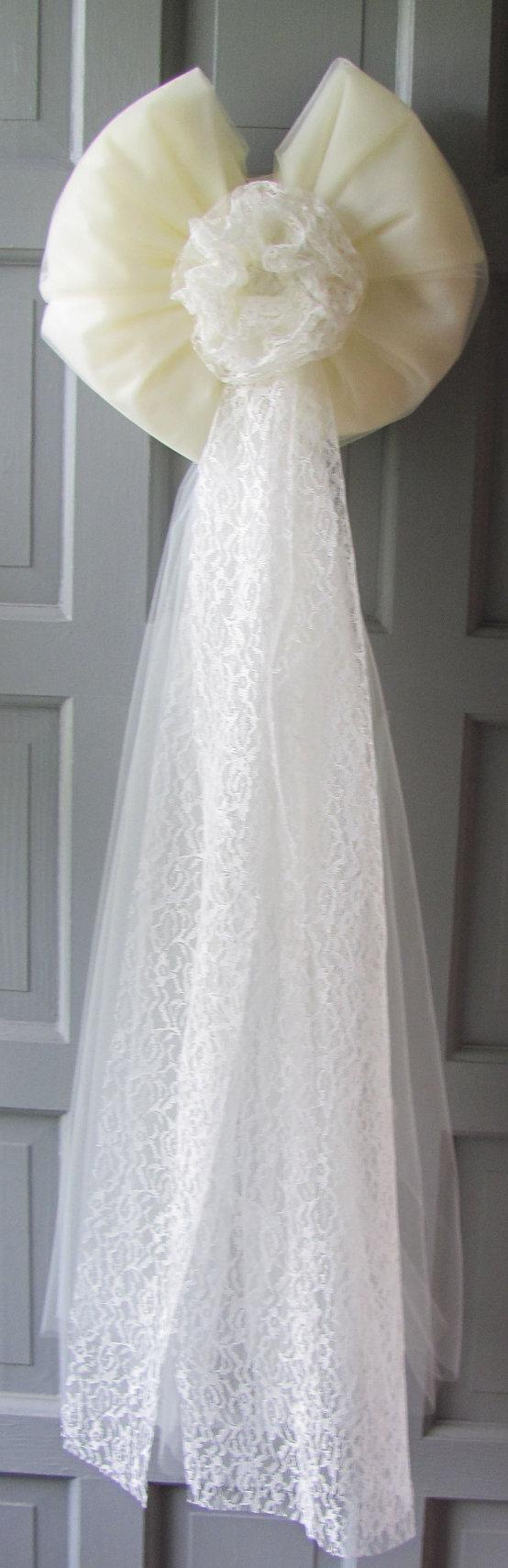 Wedding Bows Decorations For Wedding Aisle By Flowerfilledweddings