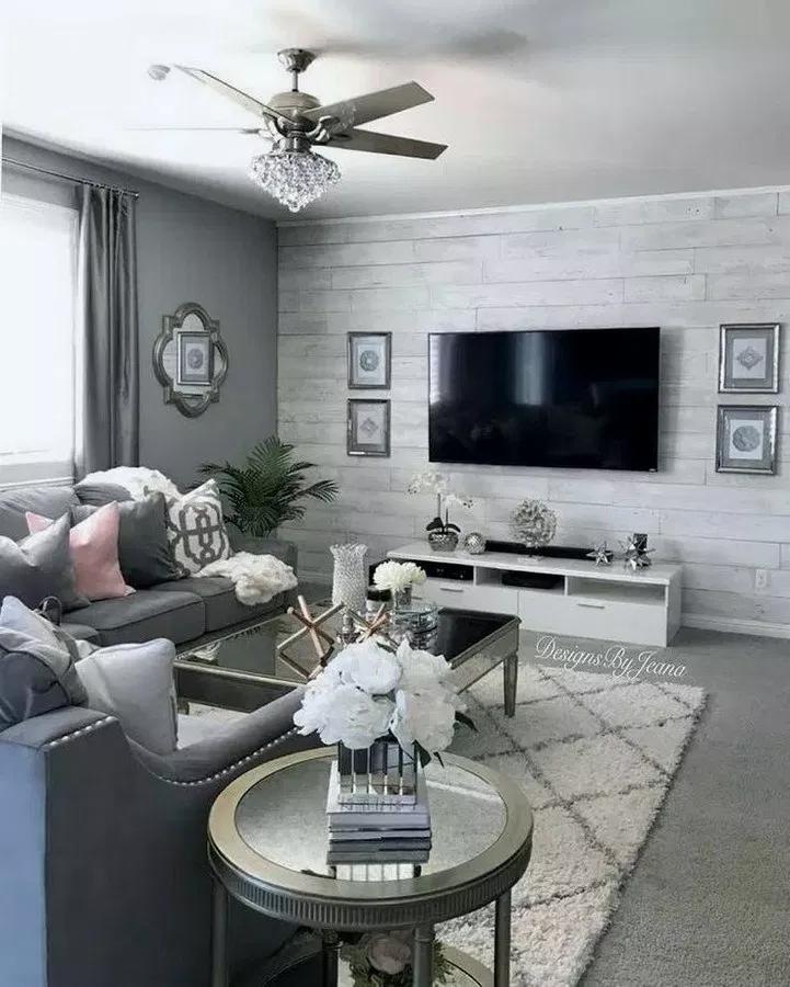40 Beautiful Farmhouse Tv Stand Design Ideas And Decorations 8 Home Design Id Living Room Decor Apartment Apartment Living Room Design Farm House Living Room