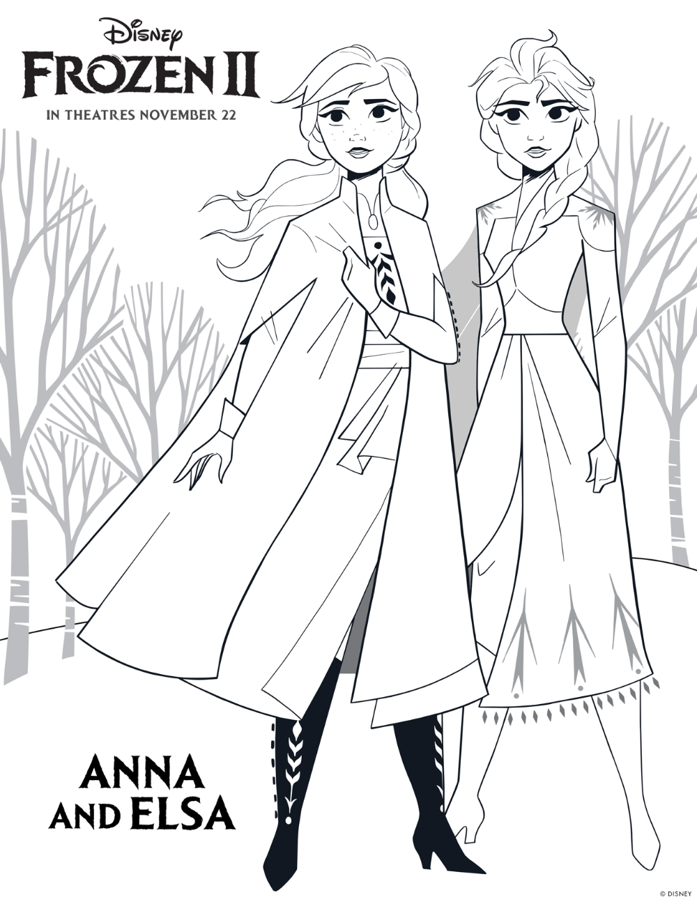 Disney S Frozen 2 Printable Color Sheets Highlights Along The Way Disney Princess Coloring Pages Princess Coloring Pages Frozen Coloring