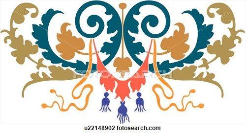 fancy teal coral and green leaf design clipart teal coral leaf rh pinterest com fancy clip art border fancy clip art border