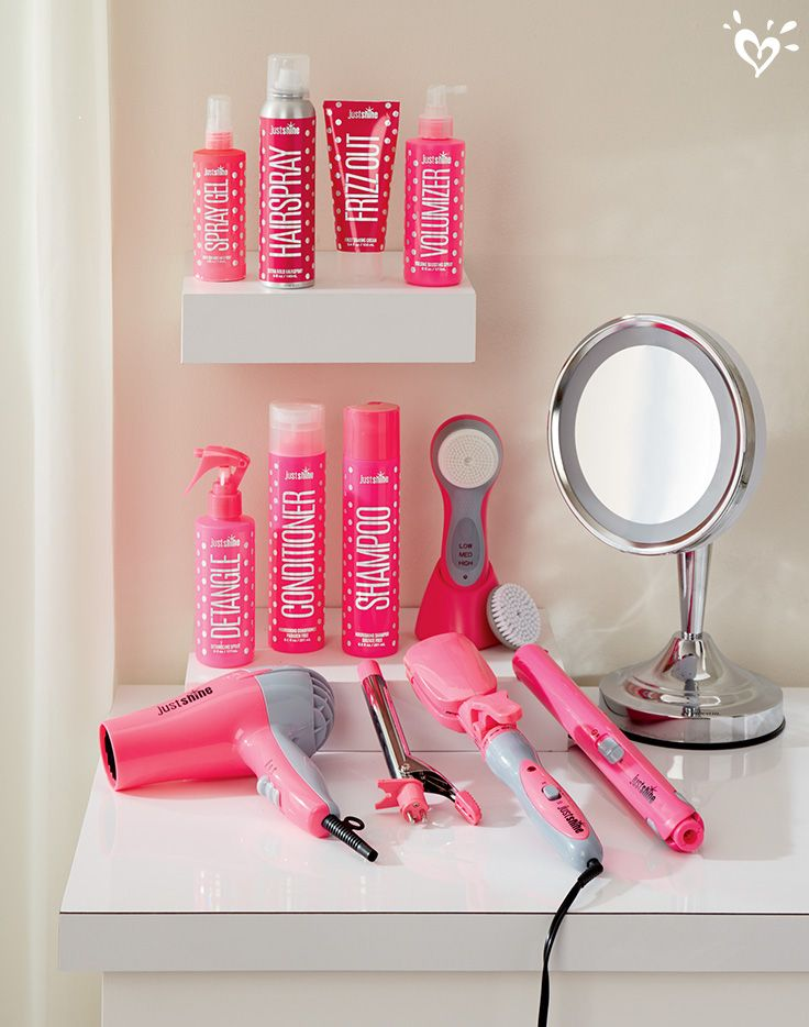 We have a product for every hair type girls just shine for Stuff for girls room