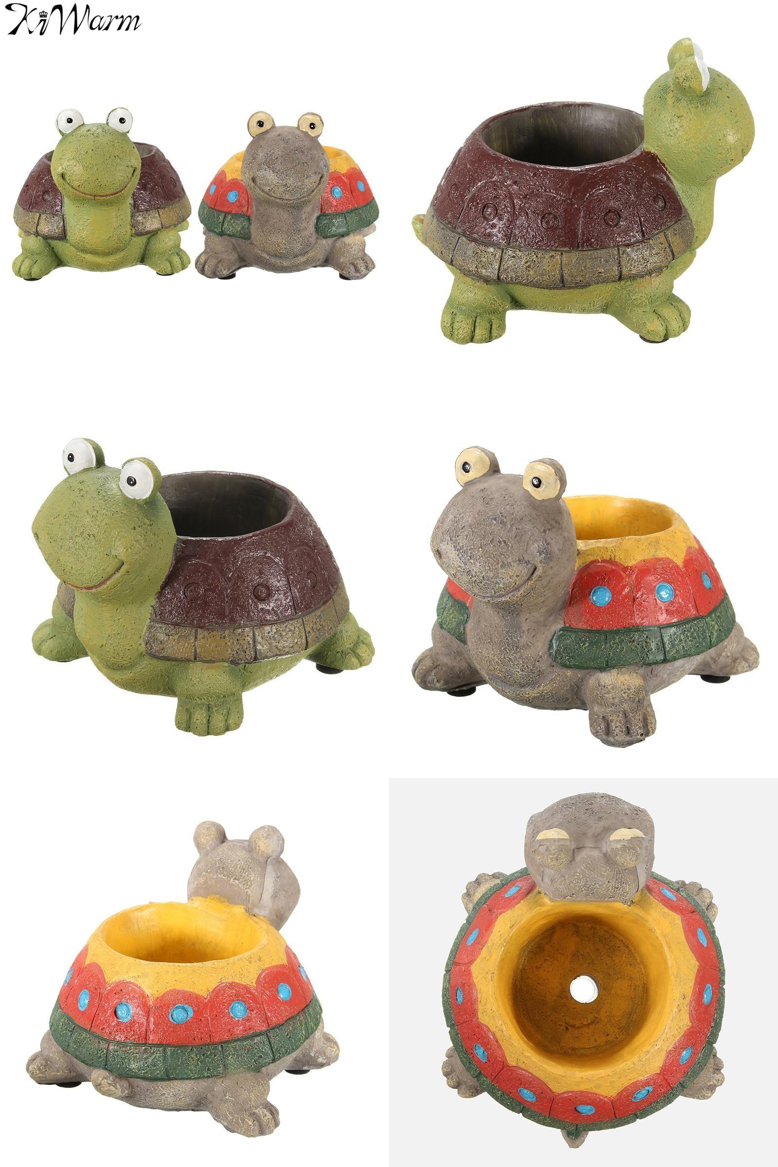 Car mirror hanging toys  Visit to Buy KiWarm Miniatures Turtle Resin Crafts Plant Pot