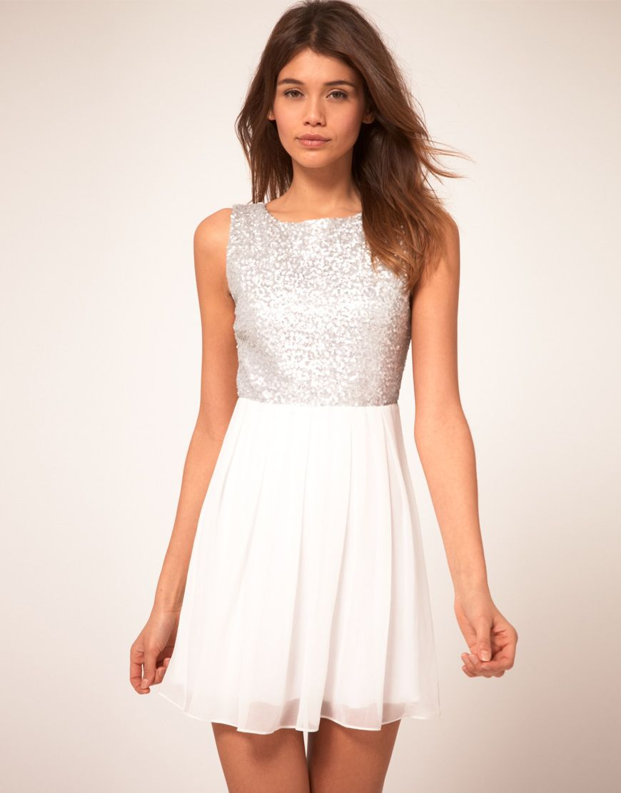 H&m lace dress white  rehearsal dinner dress  Wedding  Pinterest  Tfnc Sequins and Bodice