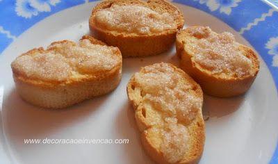 Reaproveitamento de Pão - Torrada temperada e torrada doce - *Decoração e Invenção*