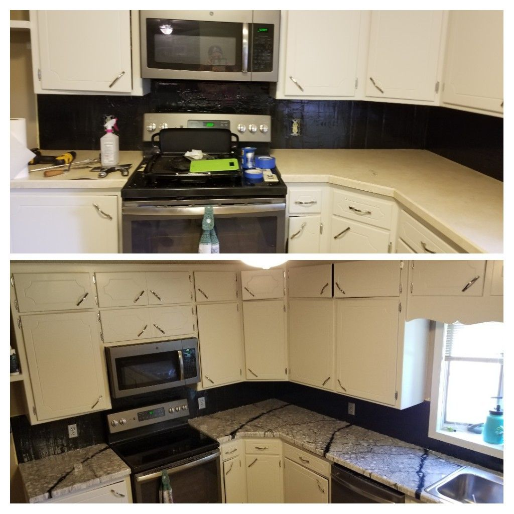 Epoxy Countertop And Painted Cabinets Painting Cabinets Countertops Epoxy Countertop