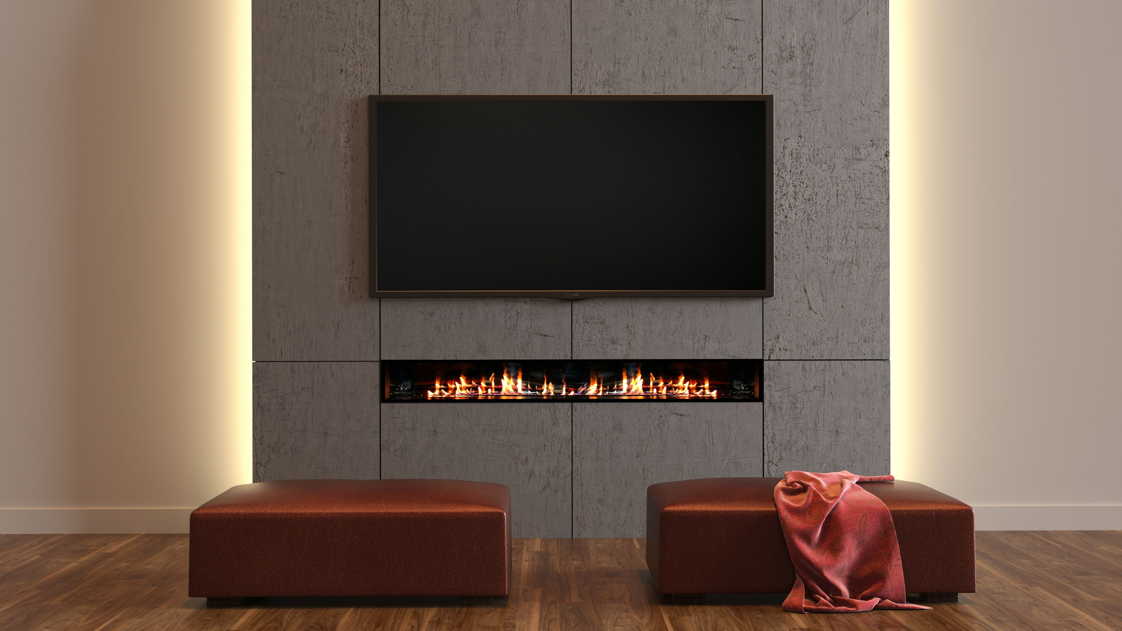 The Jetmaster Horizon 3 Sided Open Gas Fire - The