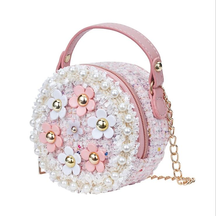 Pretty Daisy Flower Round Shoulder Bag Available In 3 Colors