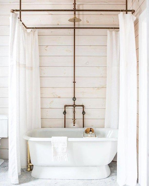 Bathroom Interiordesign Ideas: Claw Foot Tub Shower Combo
