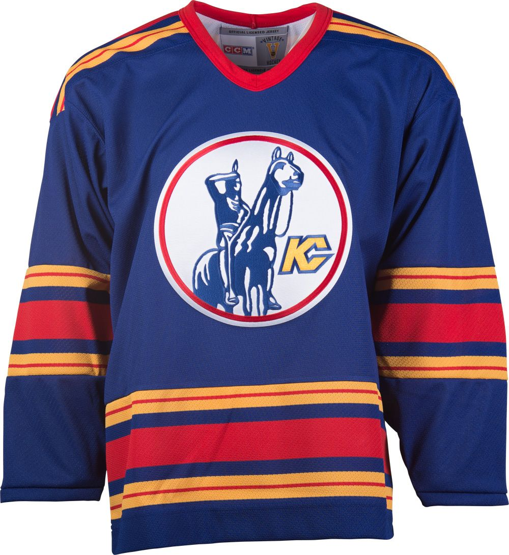 8a47e3e5367 Kansas City Scouts CCM Vintage 1975 Royal Replica NHL Hockey Jersey ...
