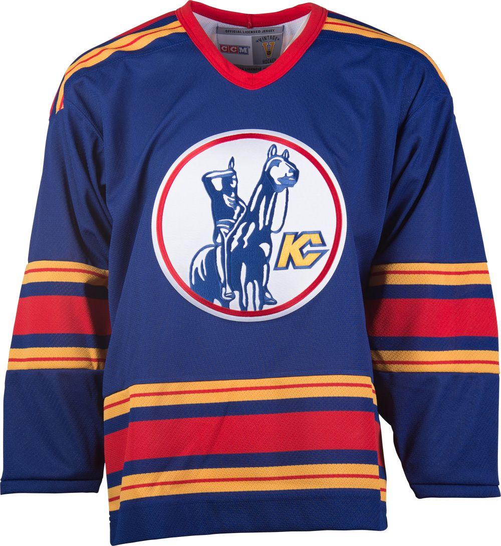 Kansas City Scouts CCM Vintage 1975 Royal Replica NHL