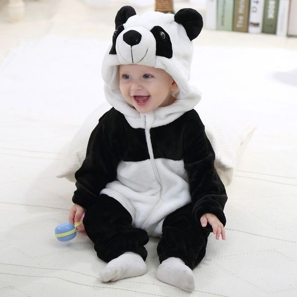 02249c1a6 IDGIRL Baby Unisex Animal Outfits Flannel Panda Costume in 2019 ...