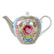 Pip Studio - Floral Teapot - Khaki