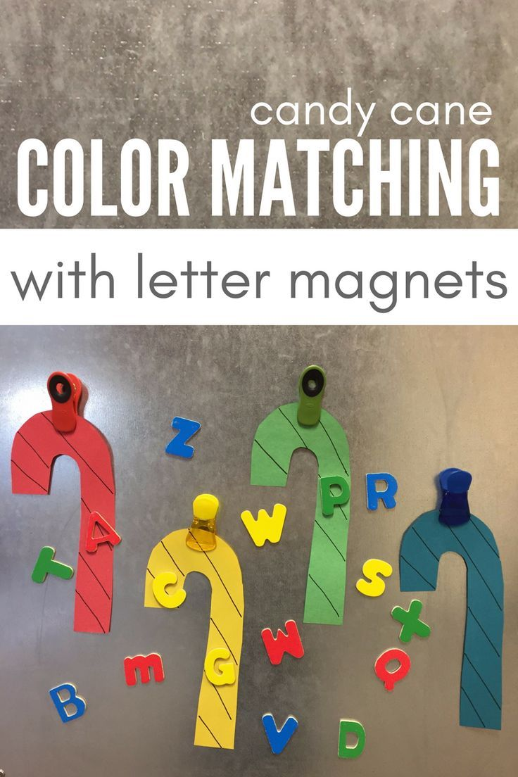 candy cane color matching with letter magnets magnets literacy