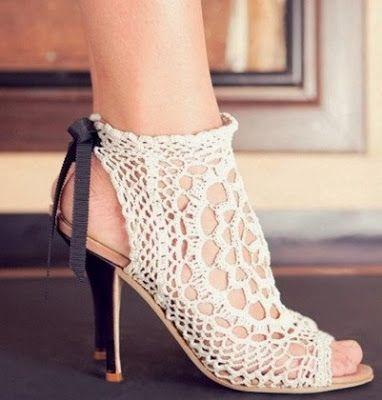 Universo da Moda & Cia.: Sapatos de crochê                                                                                                                                                      Mais
