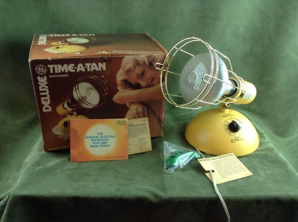 GE Deluxe UV TimeATan Suntanner Tanning Light Sun Lamp