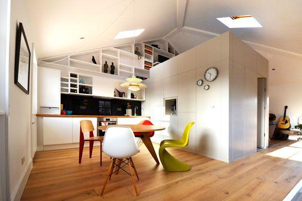 Lappartamento è stato convertito da ufficio open space in loft ...