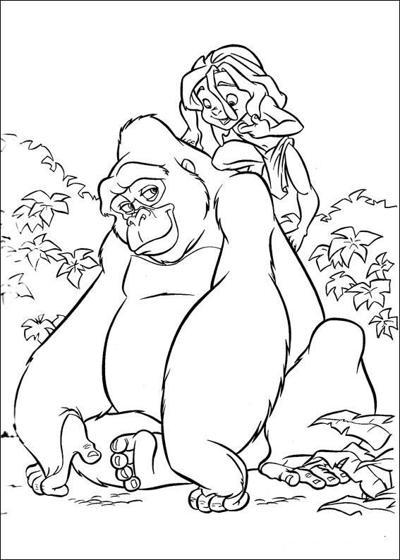Tarzan Coloring Pages | Tarzan, Disney quilt and Crayons