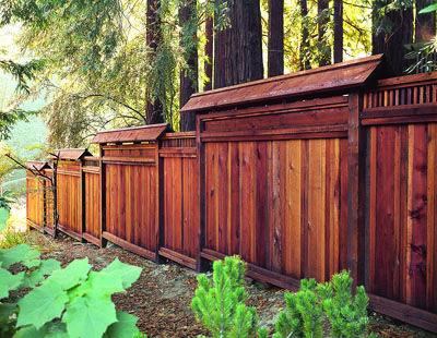Project Plans Fence Design Redwood Fence Curb Appeal Landscape