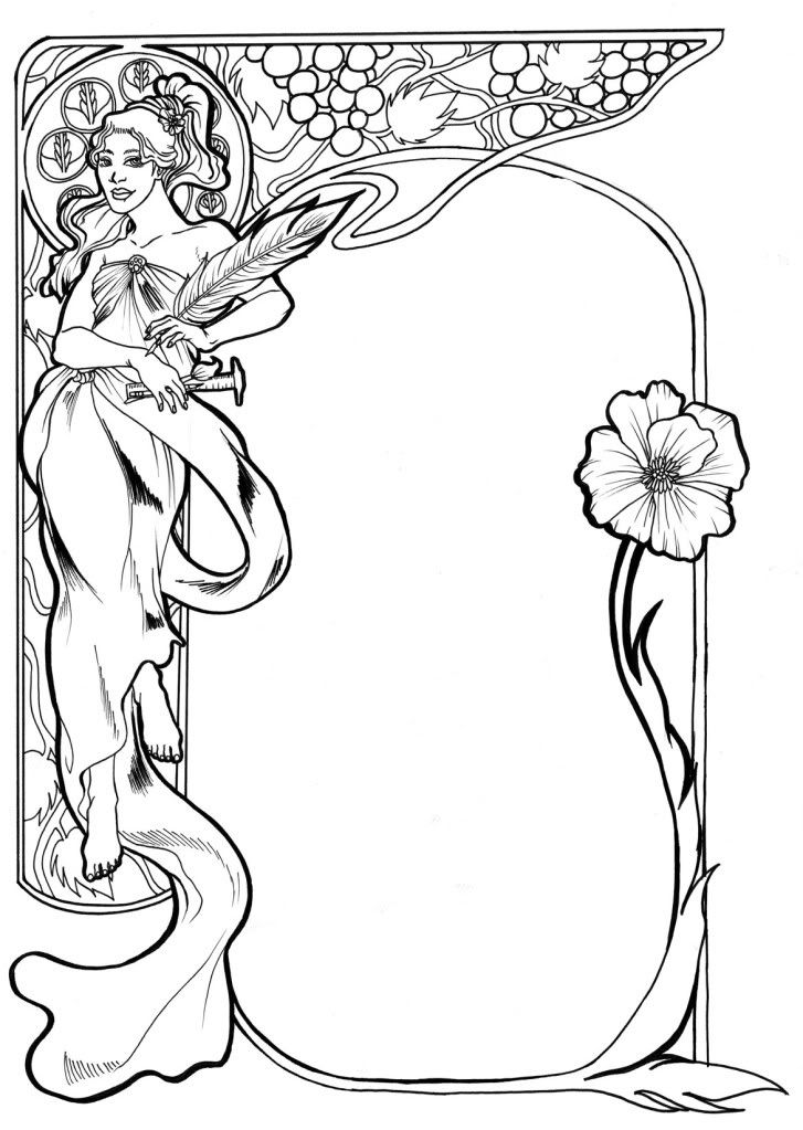 Alphonse Mucha Coloring Pages Okay imma stop blabbin