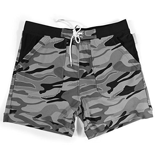 10cc375d18dcd Taddlee Swimwear Men Basic Long Swimming Trunk Surf Camo Shorts Swimsuits  Pocket Gray Medium